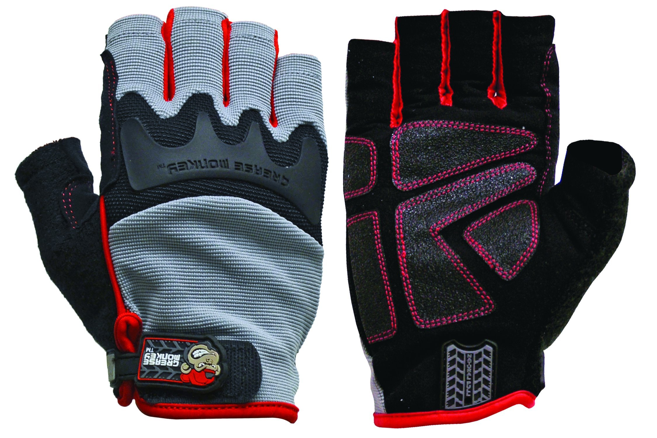 Big Time Products Grease Monkey Pro Fingerless Gloves (Medium) by '47 (Image #1)