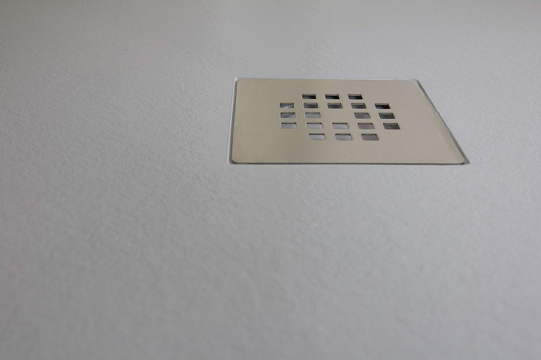 Crocket Kit Mampara de Ducha Frontal New Carglass + Plato de Ducha de Resina Stone + Puerta Corredera Cristal ...