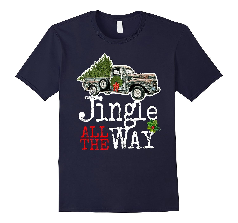 Jingle All The Way Christmas T-Shirt Vintage Classic Car Tee-ANZ