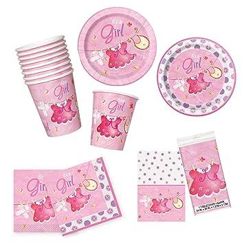 Amazon Unique Pink Clothesline Baby Shower Party Bundle