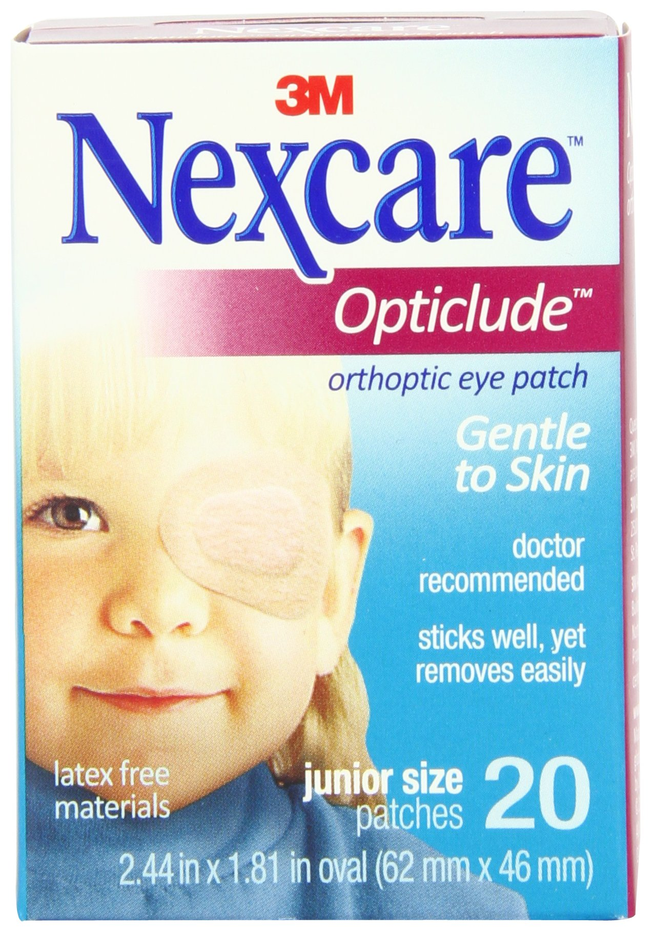 Nexcare Opticlude Orthoptic Eye Patches, Junior Size, 20-Count Boxes (Pack of 4) by Nexcare (Image #4)
