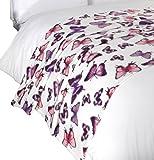 Dreamscene - Couverture en polaire Butterfly - violet - 120 x 150 cm