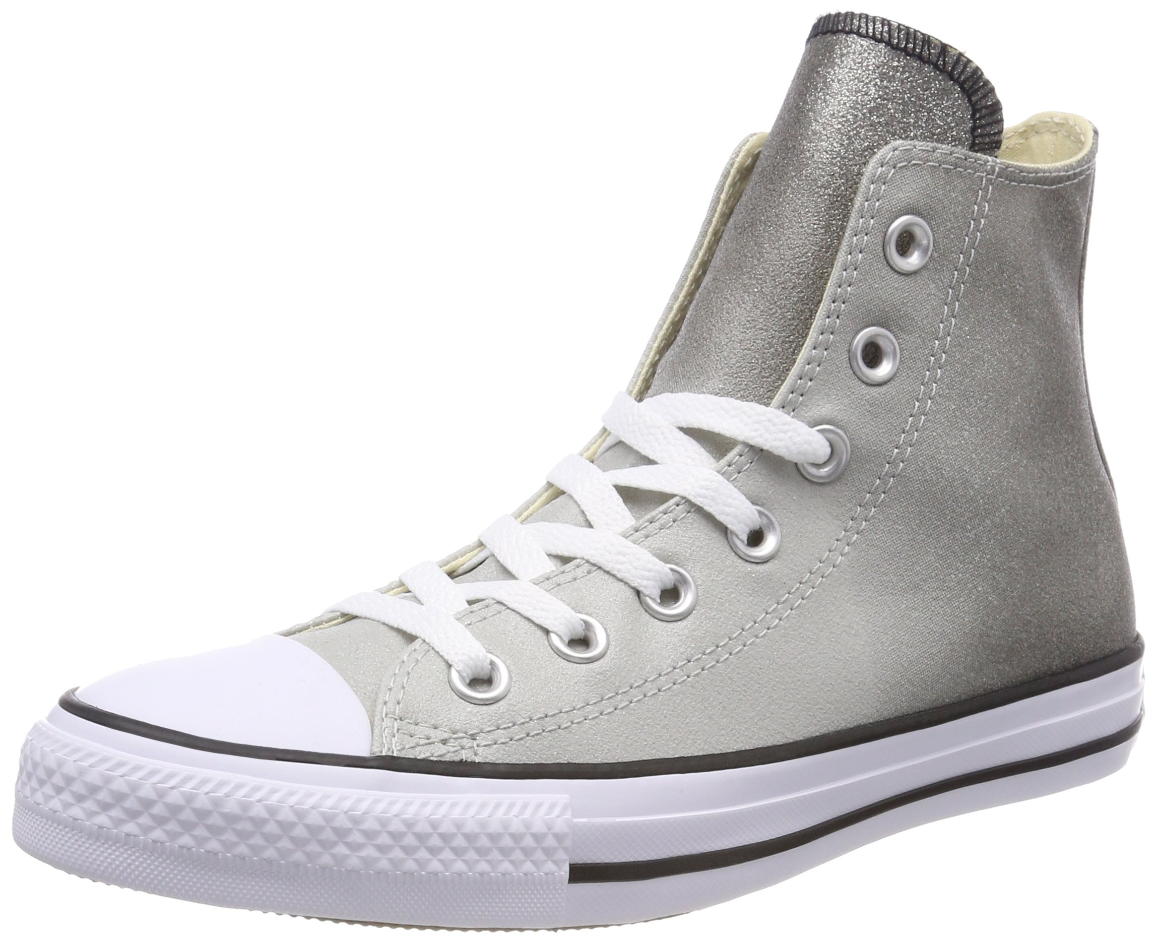 4c49e2f118d2 Converse Chuck Taylorr All Star Canvas Ombre Metallics Hi Ash  Grey Black White Women