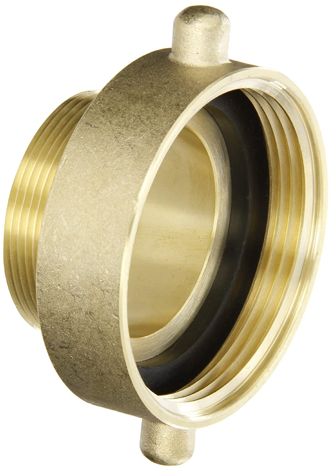 Dixon Valve HA2520T Brass Fire Equipment, Hydrant Adapter with Pin Lug, 2-1/2' NST (NH) Female x 2' NPT Male 2-1/2 NST (NH) Female x 2 NPT Male Dixon Valve & Coupling