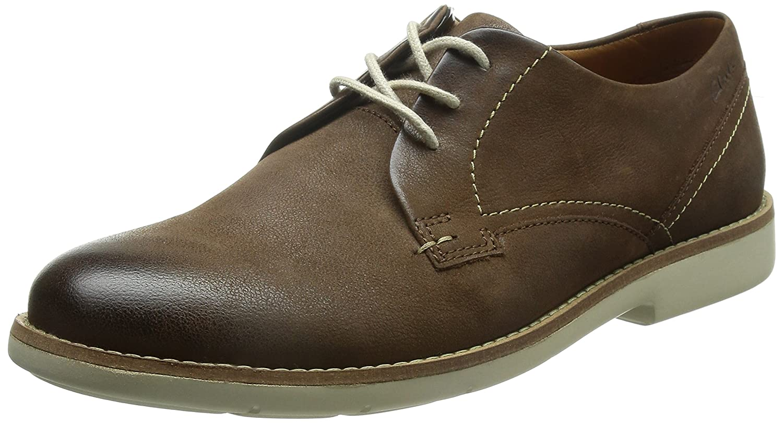 TALLA 40 EU. Clarks Raspin Plan - Zapatos con Cordones de Cuero Hombre