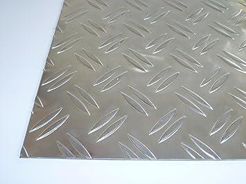 100 x 900 mm Tr/änen-Blech Zuschnitt B/&T Metall Aluminium Riffel-Blech Duett 3,5//5,0mm stark Gr/ö/ße 10 x 90 cm