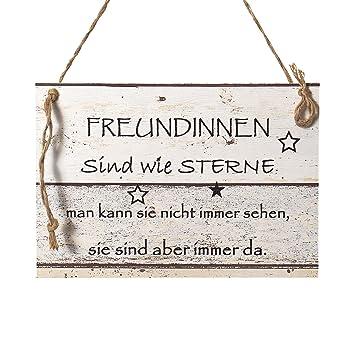 Wand Deko Holzschild Mit Spruch Im Shabby Chic Vintage Stil 20x29x0