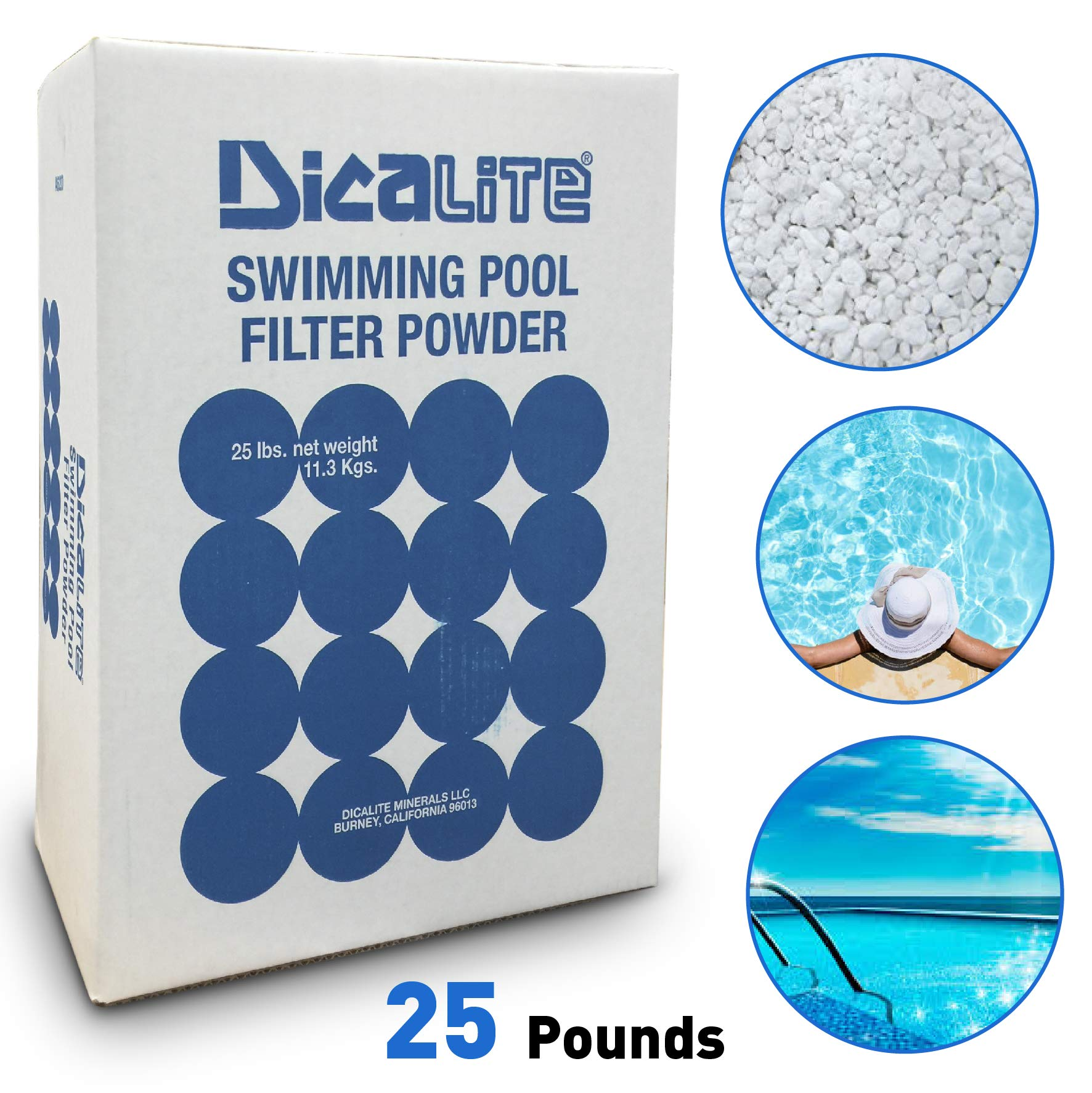Dicalite Minerals DE25BOX Diatomaceous Earth Pool Filter D.E. 25 LBS by Dicalite Minerals