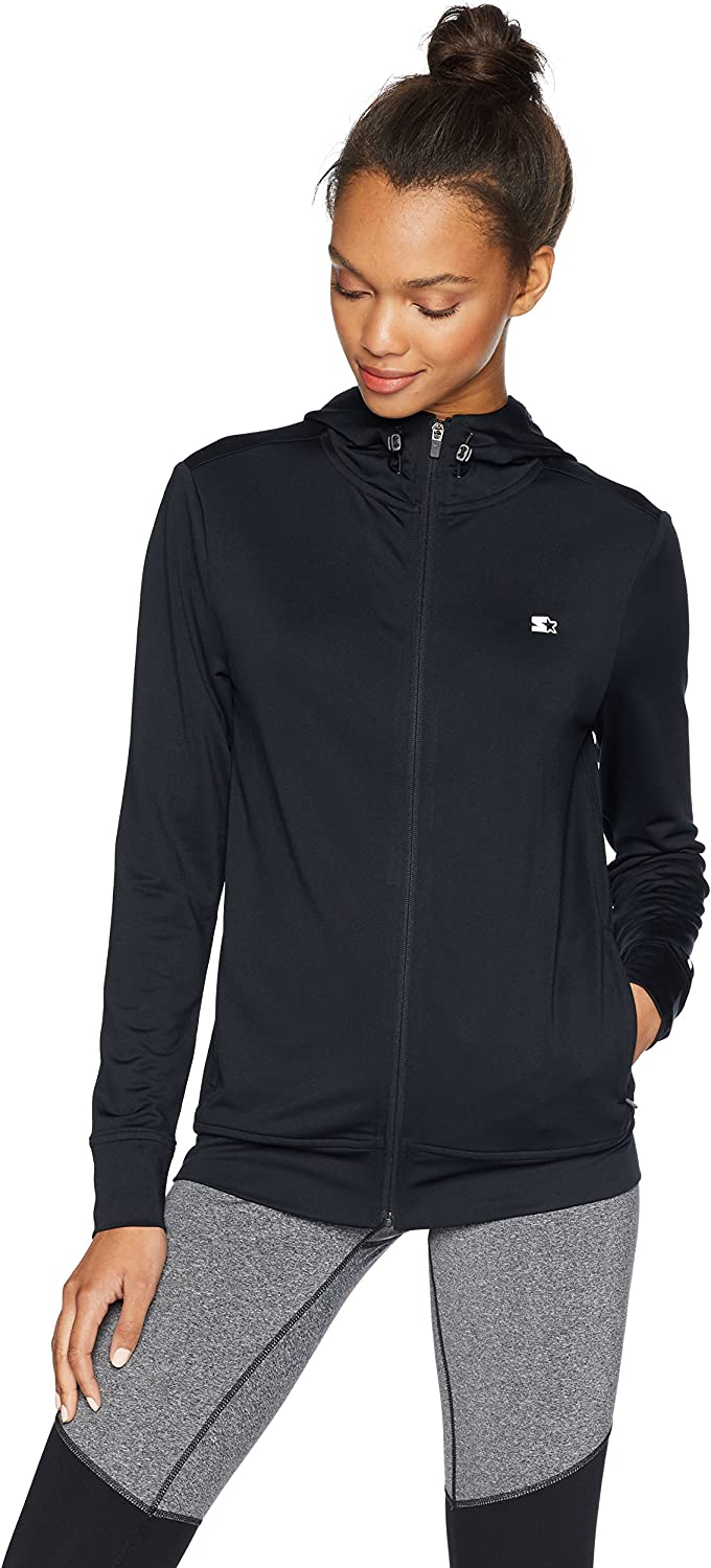 Starter Women's Lightweight Run Jacket with Hood,  Exclusive: Clothing