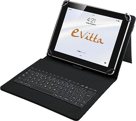 E-Vitta - Funda con Teclado USB para Tablets 9,7-10,1 Negro