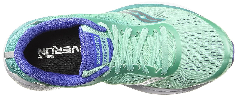 Saucony Women's Breakthru 4 9.5 9.5 4 M US|Aqua/Violet B07BNXY48M 39f232