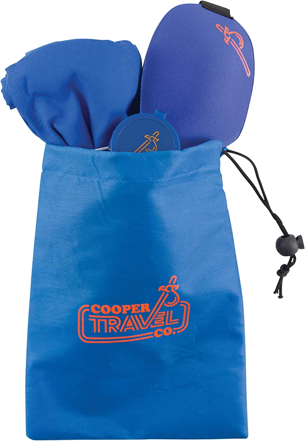 Cooper Travel Company Hostel Sleep Kit – Includes Personal Hygienic Pillowcase, 3-D Light Blocking Sleep Mask and Earplugs with Case. Designed for Sleeping in Hostels, Airbnb and Couchsurfing