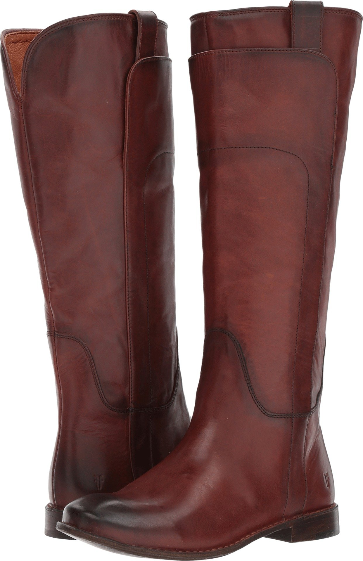 Frye Women's Paige Tall Riding Redwood Smooth Vintage Leather 9.5 B US