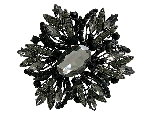 "240e8b85f44 TTjewelry 3.82"" Gorgeous Flower Large Rhinestone Crystal Brooch Pin ..."