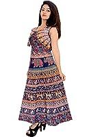 BILOCHI'S Women Cotton New Fashionable Printed Multi-Coloured Dress (Free Size)