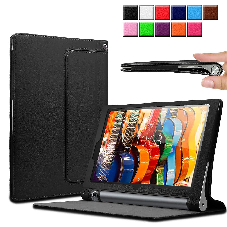 Infiland Lenovo Yoga Tab 3 10.1-Inch Funda Case, Folio PU Cuero Cascara Delgada con Soporte para Lenovo Yoga Tab 3 10.1-Inch Tablet(con Auto ...