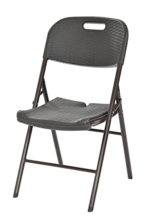 Genial Sandusky Lee FPC182035 BR Folding Plastic Utility Chair, 34.6u0026quot; Height,  17.7u0026quot;