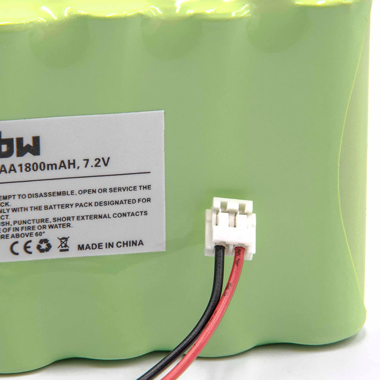 vhbw Batería NiMH 1800mAh (7.2V) para estimulador muscular Compex Sport 3 Vascular, Sport 400, Sport Tens, Top Fitness
