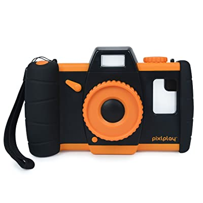 Pixlplay – Turn Your Smartphone into a Fun Kids Camera – Digital Toy Camera for Toddlers & Children (Orange): Camera & Photo