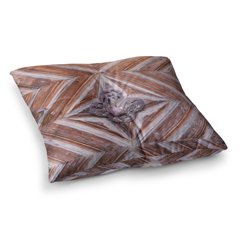 Kess InHouse Ann Barnes Bavaria Brown Gold Photography 23 x 23 Square Floor Pillow