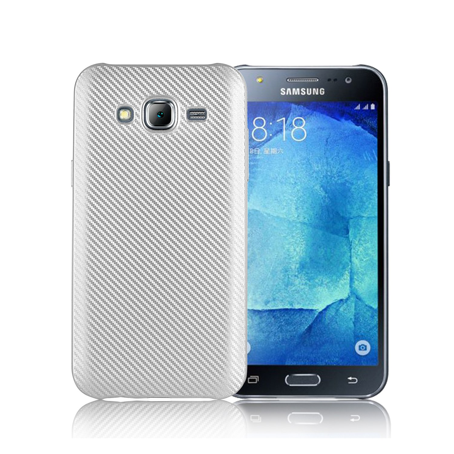 new styles 1c6e3 04139 QiongNi Cover Case for Samsung SM-J701M/DS Galaxy J7 Neo 2017 Duos Case TPU  Silicone Soft Shell Cover Silver