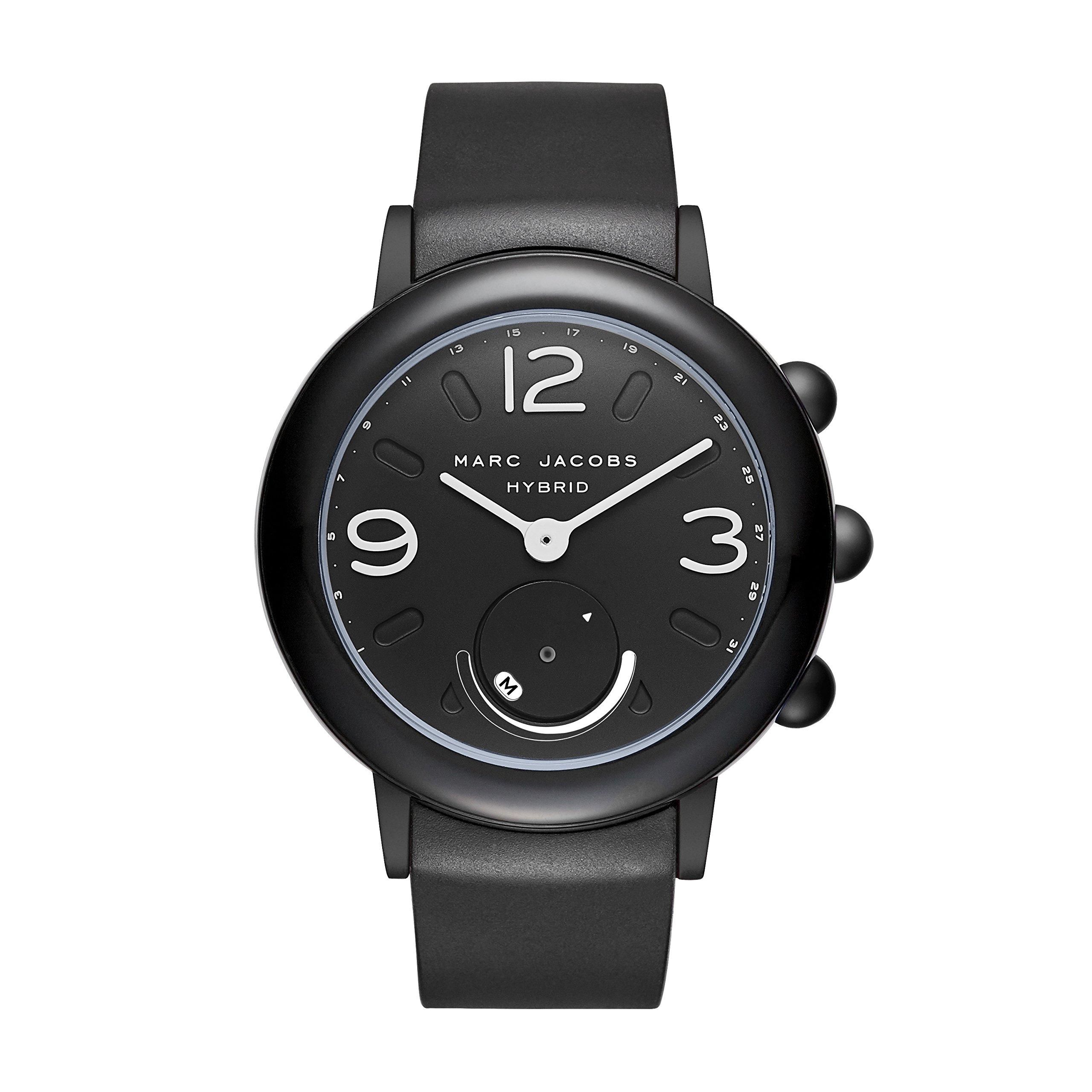 Marc Jacobs Women's Riley Aluminum and Rubber Hybrid Smartwatch, Color: Black (MJT1002) by Marc Jacobs