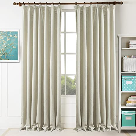 Amazon.com: Beige Blackout Curtains Bedroom Drapes - KoTing 1 Panel ...