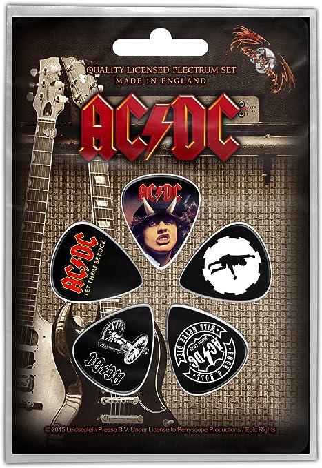AC/DC 5 púa unidades púas para guitarra: Amazon.es: Instrumentos ...