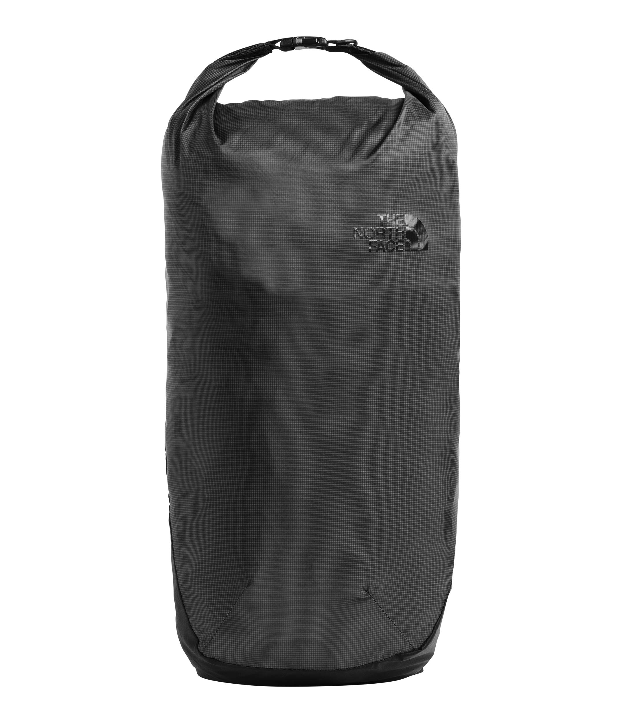 The North Face Flyweight Rolltop, Asphalt Grey/TNF Black, OS by The North Face