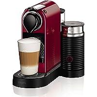 Nespresso Citiz Milk XN7605 Cafetera monodosis de 19 Bares con aeroccino Integrado y Bandeja extraíble, 1260 W, Rojo