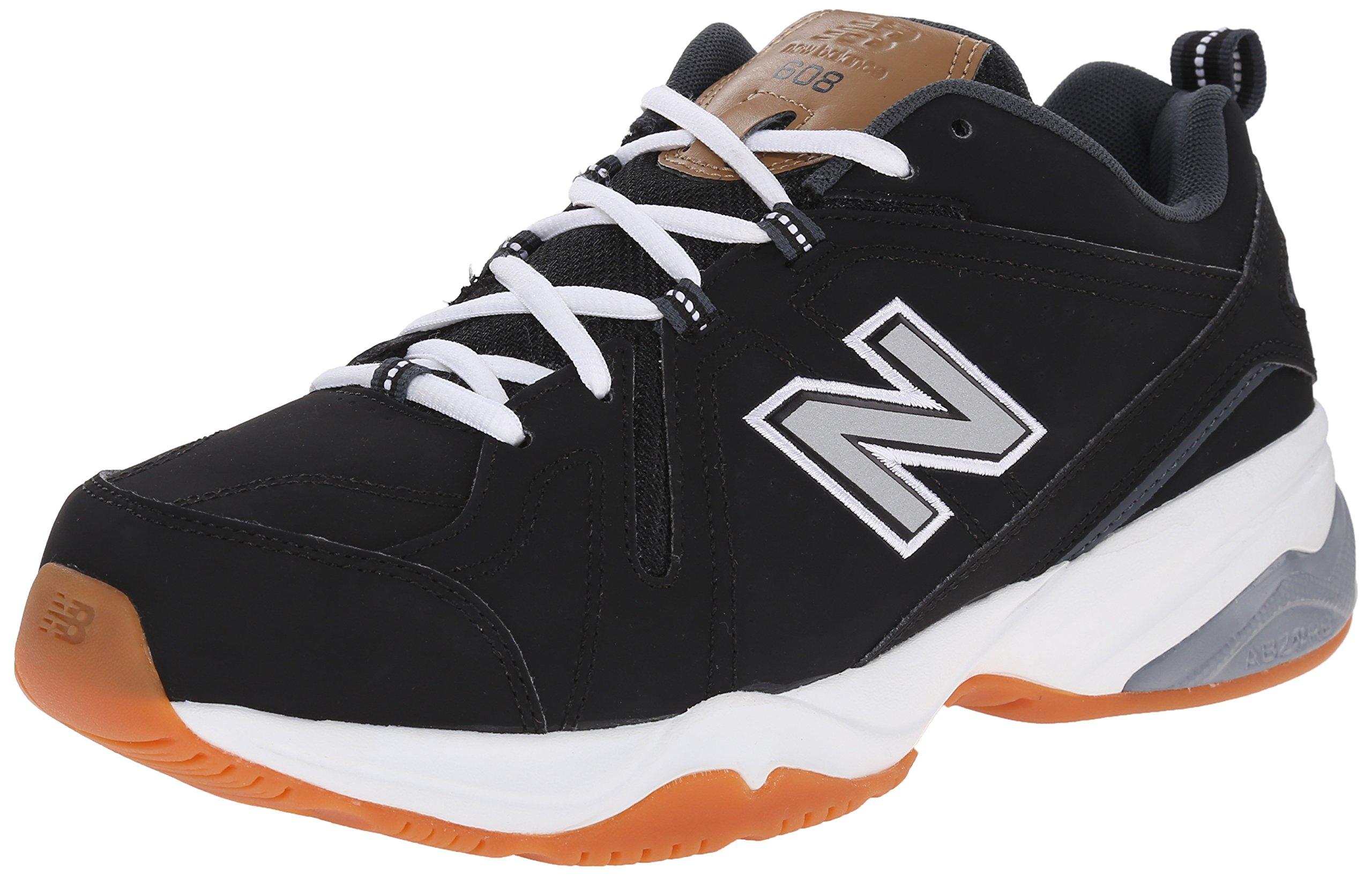 New Balance Men's MX608V4 Training Shoe, Black/White, 11.5 D US