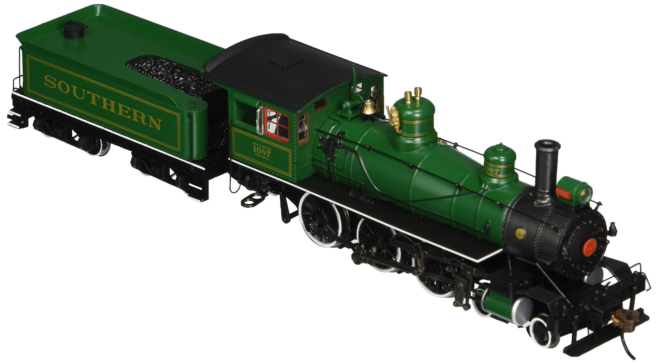 Bachmann Industries Baldwin 52'' Driver 4-6-0 DCC Sound Value Equipped Locomotive - SOUTHERN #1087 - (1:87 HO Scale), Green