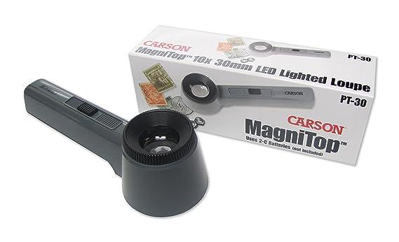 7cc6cc091d9a1 Carson 10x MagniTop LED Lighted Table Top Magnifier  Amazon.es  Electrónica