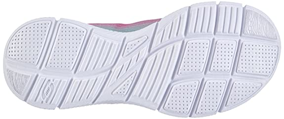 Amazon.com | Skechers Girls Equalizer Lace Up Textile Trainer Sneaker Pink Textile | Running