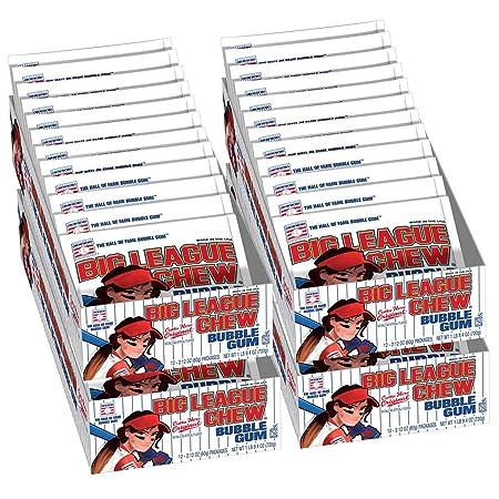 e84825132b Amazon.com   Big League Chew Female Softball Case 12 Packs Per Tray (4  Trays Total   48 Packs)   Grocery   Gourmet Food