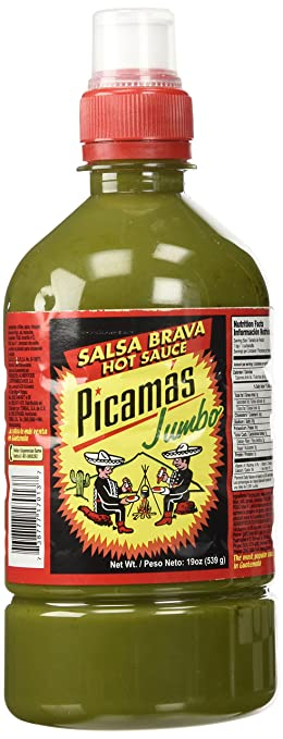 Amazon.com : B&B Picamas Green Hot sauce 19 oz - Salsa verde picante (Pack of 18) : Grocery & Gourmet Food