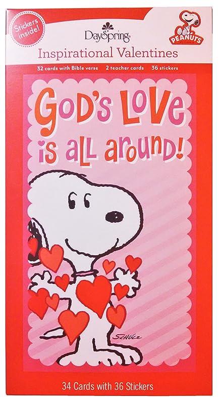 Amazon.com : Peanuts Snoopy God\'s Love is All Around Valentine ...