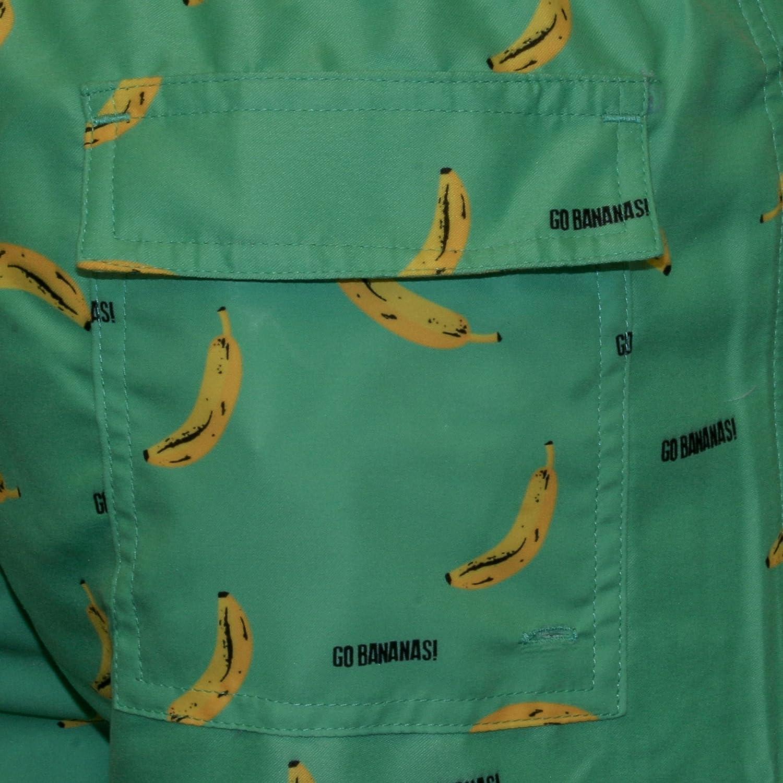Green Nikben Go Bananas Mens Swim Shorts