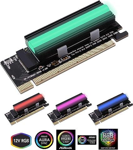 Amazon Com Ezdiy Fab Nvme Pcie Adapter With 12v Argb Heatsink Ssd
