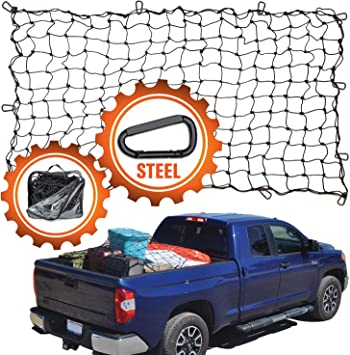 Fit Ford Pickup Truck Heavy-Duty Cargo Net Extended Extend Ext Cab 6.5ft Bed Web