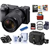 Sony Alpha a6400 Mirrorless Digital Camera with 18-135mm f/3.5-5.6 OSS Lens, Bundle with Camera Bag + Filter Kit + 32GB…