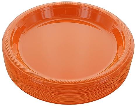Amazon.com: Platos desechables de plástico Amcrate de 10.4 ...