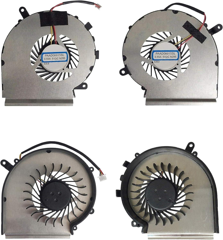 RTDpart Ventilateur CPU pour ordinateur portable MSI GP62 2QD 2QE 6QE GL62 6QC 6QD GX62 6QD GE72 PE60 PE70 PAAD06015SL-N402 quatre lignes