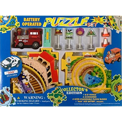 Puzzle Car Set -- Battery Operated Train