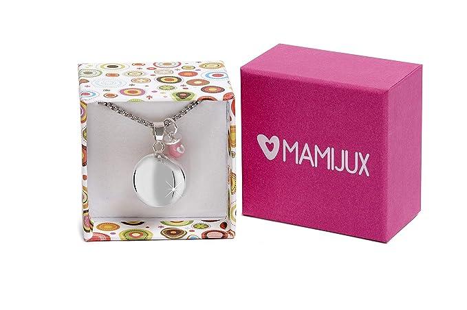 MAMIJUX® Llamador de ángeles con Chupete Rosado con Cadena de Acero 110cm
