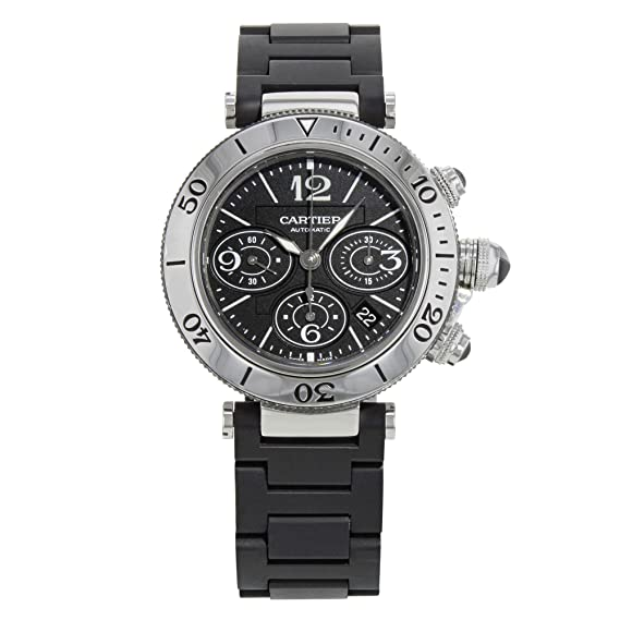 Cartier Pasha Seatimer W31088U2 Acero Inoxidable - Reloj automático de Hombre (Certificado) de Segunda Mano: Cartier: Amazon.es: Relojes