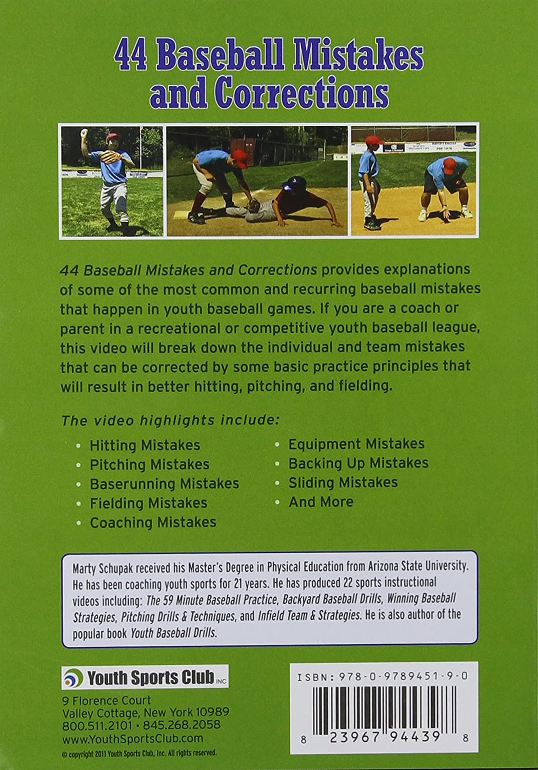 amazon com baseball coaching 44 baseball mistakes and corrections
