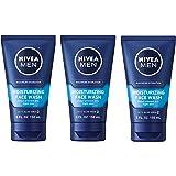 NIVEA FOR MEN Original Moisturizing Face Wash 5 oz (Pack of 3)
