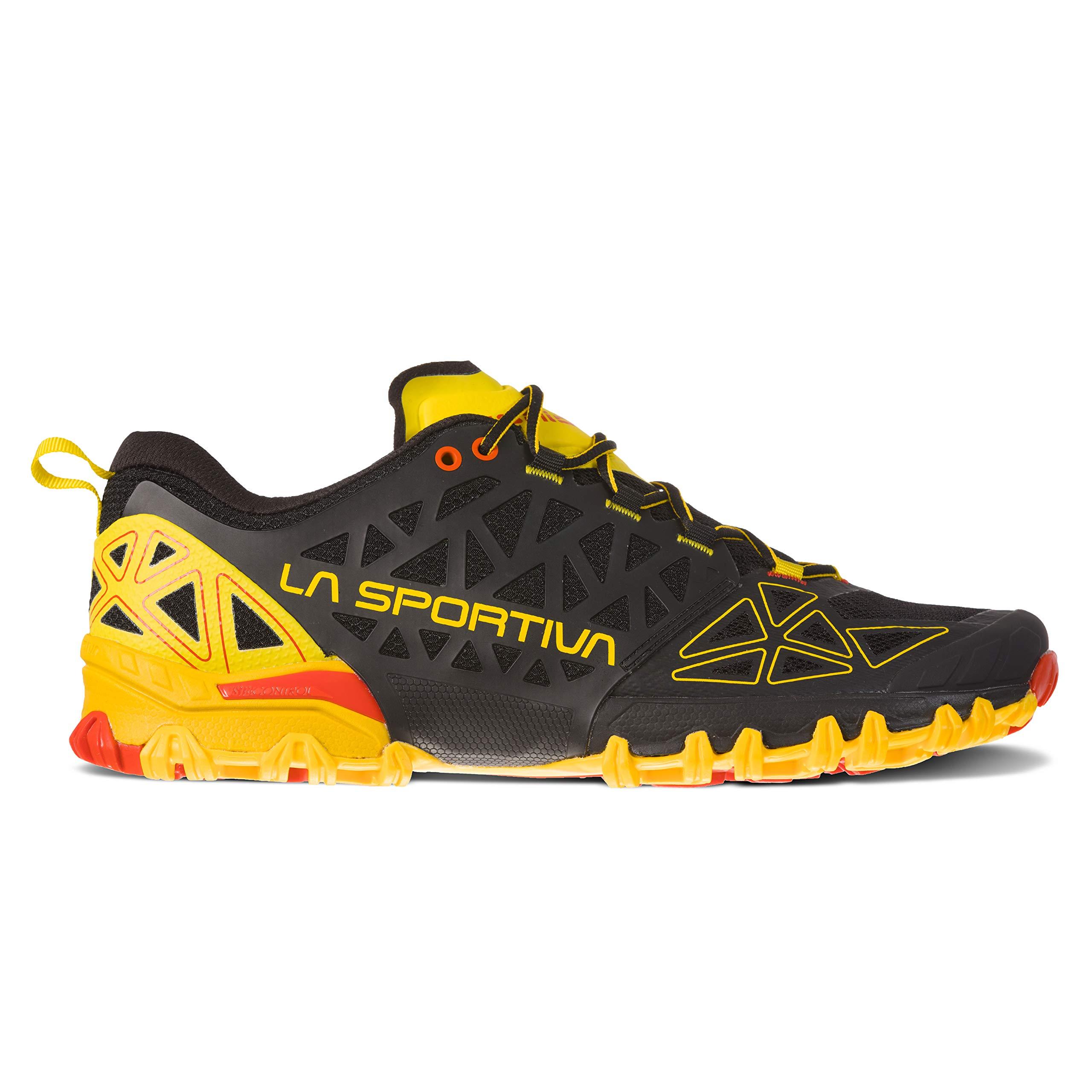 La Sportiva Bushido II Running Shoe, Black/Yellow, 45