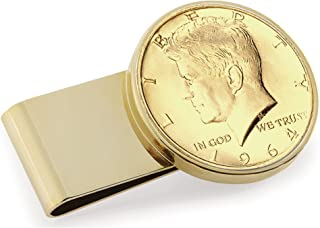 product image for Gold-Layered JFK 1964 First Year of Issue Half Dollar Stainless Steel Coin Money Clip
